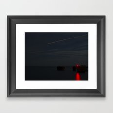 Martha's Vineyard Pier Glow. Framed Art Print