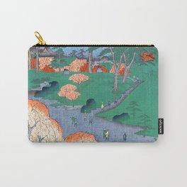 Temple Gardens Nippori Ukiyo-e Japanese Art Carry-All Pouch