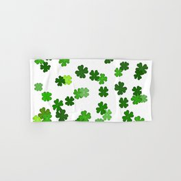 Shamrocks Falling - Pattern for Saint Patricks Day Hand & Bath Towel