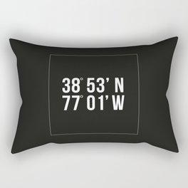 DC Coordinates Rectangular Pillow