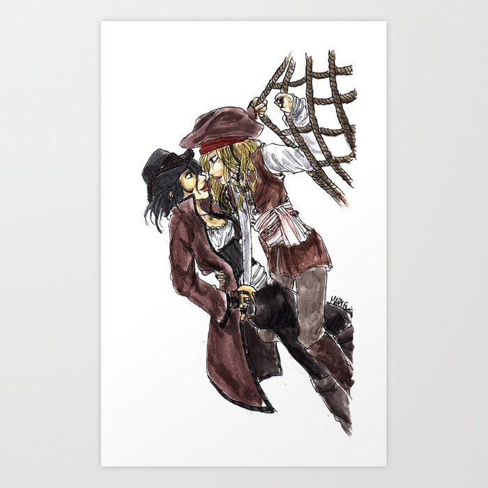 PIRATES. Art Print