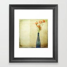 Bottled Carnations Framed Art Print
