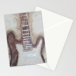 Brown Guitars  Stationery Cards