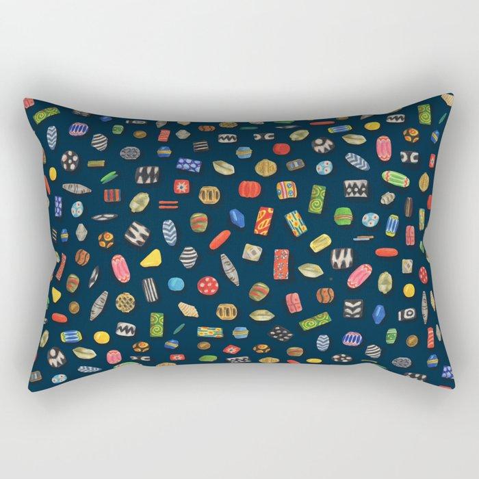 African Beads Rectangular Pillow