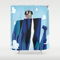 pixar Shower Curtains featuring A Pixar Adventure! by Create The Crown!