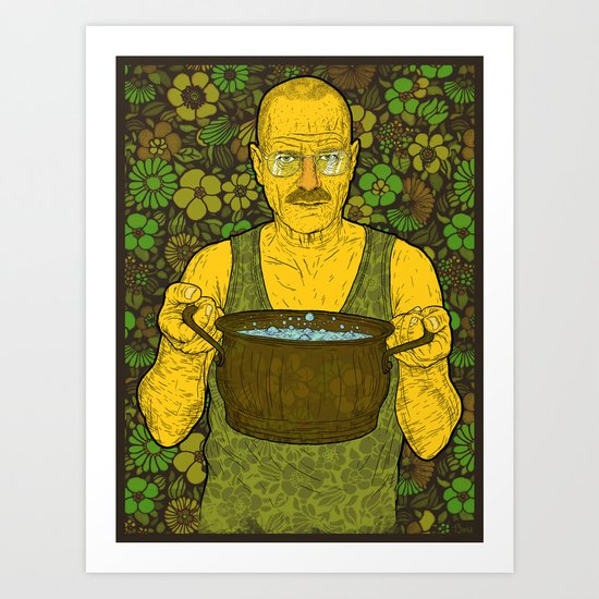 Cook (green) Art Print