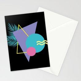 Memphis pattern 48 - 80s / 90s Retro / Palm Tree Stationery Cards
