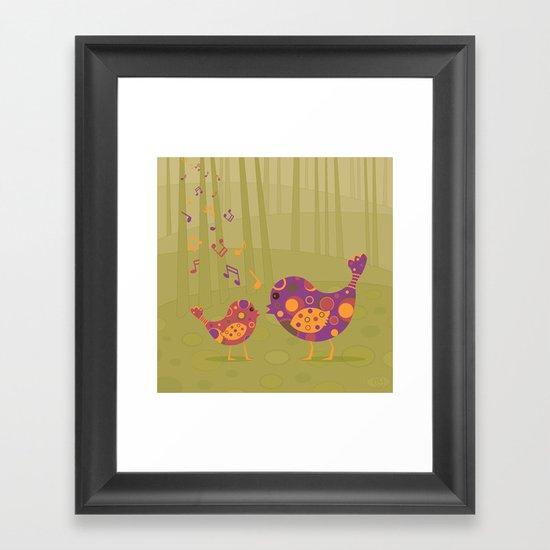 Bird Duet Framed Art Print