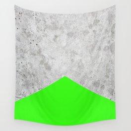 Geometric Concrete Arrow Design - Neon Green #394 Wall Tapestry