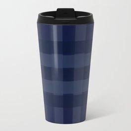 Dark blue Squares Travel Mug