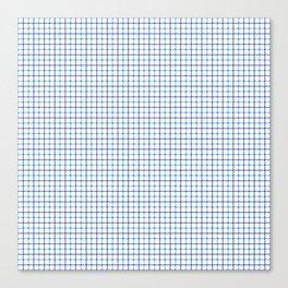 Small Blue & White Large Tattersall Check Pattern Canvas Print