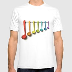 Xylospoons MEDIUM White Mens Fitted Tee