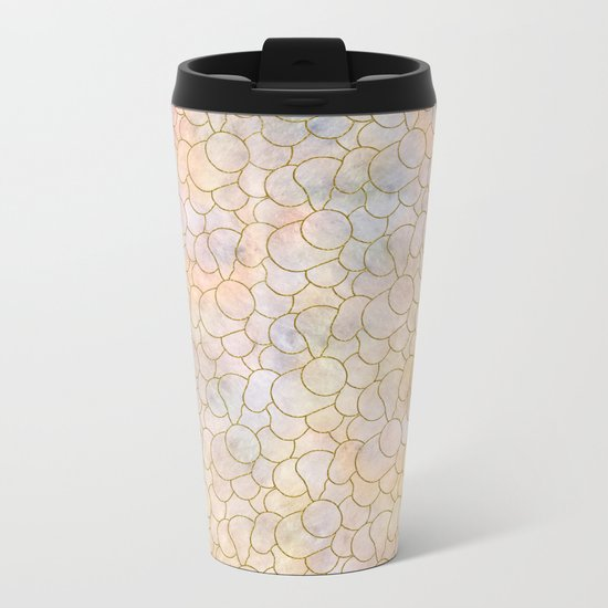 SOFT PASTELS PATTERN (abstract) Metal Travel Mug