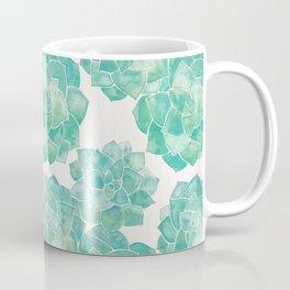 Rosette Succulents – Mint Palette Coffee Mug