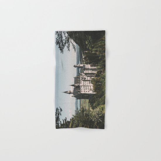 Neuschwanstein fairytale Castle - Landscape Photography Hand & Bath Towel