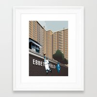 dodgers Framed Art Prints featuring Ther Used to be a Ballpark Here by John W. Tomac