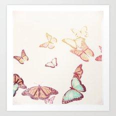 Vintage Butterflies Art Print