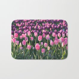 Purple and Pink Tulips Bath Mat