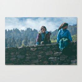 Nepalese Kids  Canvas Print