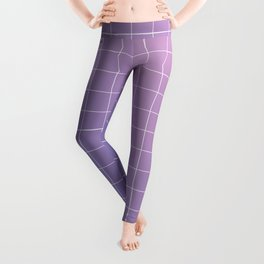 purple / pink - grid Leggings