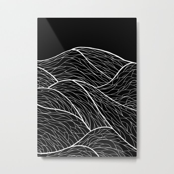 The white lines of the sea Metal Print