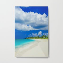 Tropical Island Sandy Beach Metal Print