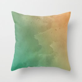 Cool Breeze Watercolor Pattern Throw Pillow