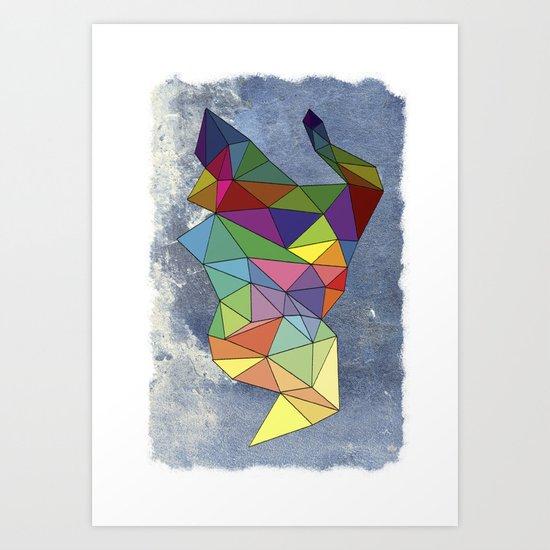Skygonal Art Print