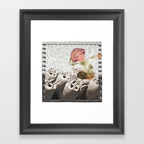 lil cyborg Framed Art Print