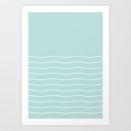 Sea Foam Green Ocean Waves Art Print