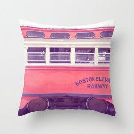 Orange Streetcar Throw Pillow