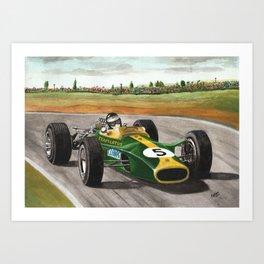 Jim Clark (natural born racer) Art Print