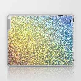 Blue & Gold Glitter Ombre Laptop & iPad Skin