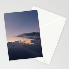 First Hint of Sunrise through Clouds at Poon Hill Stationery Cards