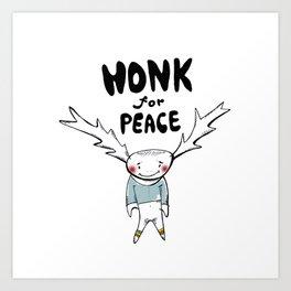 HONK for PEACE Art Print