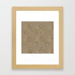 Tan & Gold Brunches Seamless Pattern Framed Art Print