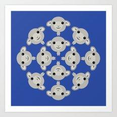Sheep Circle - 3 Art Print
