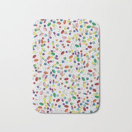 Medical Capsule Pharmacology Design Bath Mat