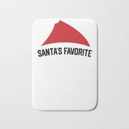 Santa's Favorite Nurse - Funny Christmas Nursing Bath Mat