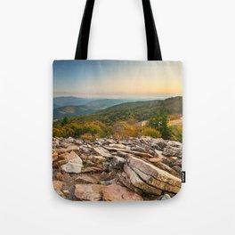 Spruce Knob Mountain Sunset Tote Bag