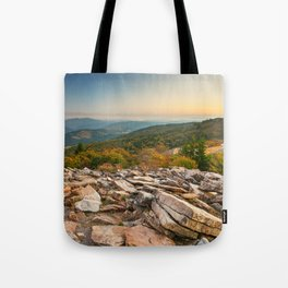 Spruce Knob Mountain Sunset Tote Bag