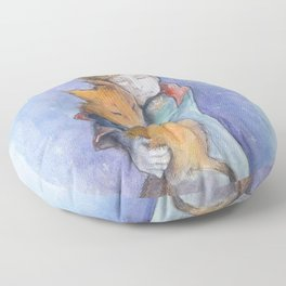 The little Prince and the fox Floor Pillow