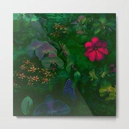 Gathering of Flowers - [Green Version] Metal Print