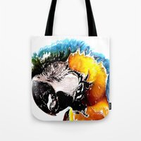 parrot Tote Bags featuring Parrot by Regan's World