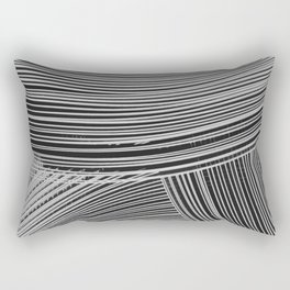 Abstract wave art - grey Rectangular Pillow