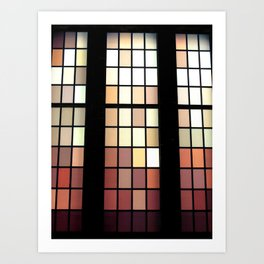 Colored Glass Art Print