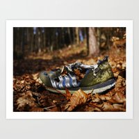 sneaker Art Prints featuring Sneaker Freaker by Rainer Steinke
