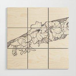 Leaning bloom Wood Wall Art