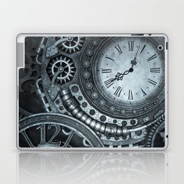 Silver Steampunk Clockwork Laptop & iPad Skin