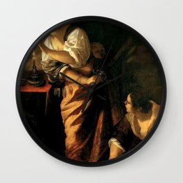 Artemisia Gentileschi - Judith and Maidservant with Head of Holofernes Wall Clock